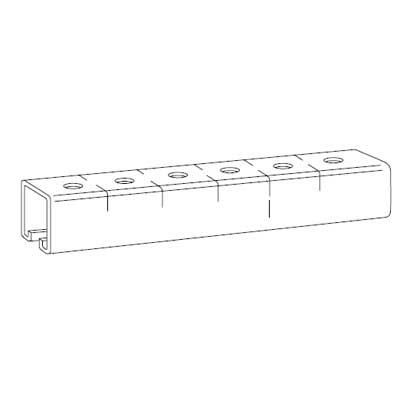 Steel City B-905-10 Steel 10 ft Punched Channel; 1 1/2 x 1 1/2 In