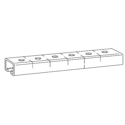 Steel City B-907-10 Galv-Krom Punched Channel; 1-1/2 In W x 1 3/4 In H; 10 Ft