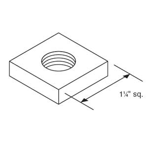 Steel City B-914-1/4 Kindorf 1/4 In Steel Square Channel Nut; Glav-Krom Finish