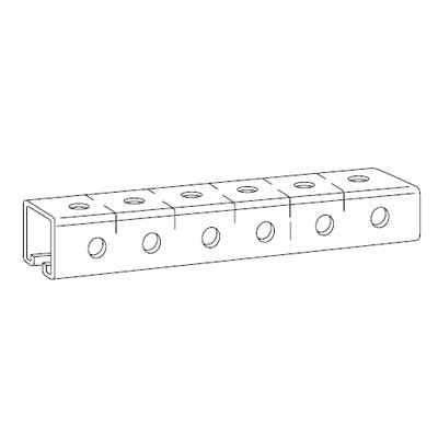 Steel City B-995-10 Kindorf Steel 10 ft Punched Channel; 1 1/2 x 1 1/2 In