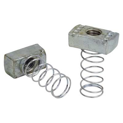 Thomas & Betts  A100-1/4SS Stainless Steel Spring Nut; For use w/ A &C Series Channel & Inserts, 1/4 In