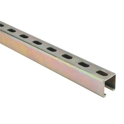 Superstrut B1400HS-10 14 Gauge Steel Half Slot Channel w/ GoldGalv Finish; 10 Feet