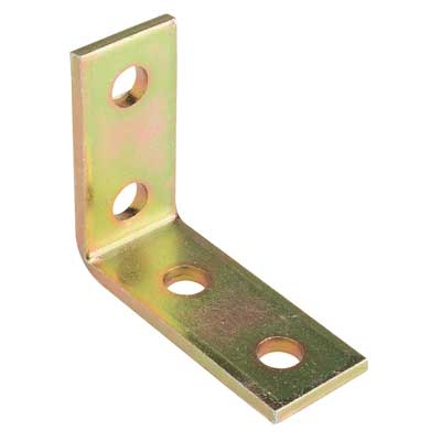 Superstrut AB205 Four Hole 90 Degree Steel Angle Fitting with GoldGalv Finish