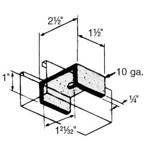 AB288-1/2 S-STRUT STEEL U FITTING
