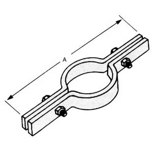 Superstrut C720-3 3 in. Steel Riser Clamp with GoldGalv finish