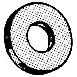 Thomas & Betts E147-1/4 1/4 in. Steel Flat Washer with GoldGalv Finish