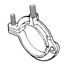 Superstrut M718-1-EG 1 in. Malleable Iron Extension Ring Hanger with SilverGalv Finish